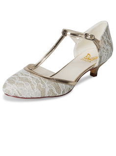 Women's Lace Low Heel Pumps With Others