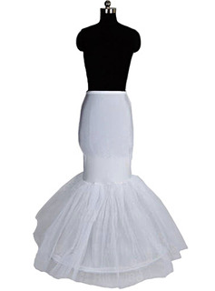 Women Nylon/Tulle Netting Floor-length 1 Tier  Petticoats