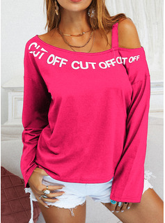 Regular Fitted Figure Print Casual Long Sleeves