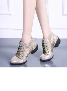 Women's Leatherette Mesh Sneakers Modern Jazz Sneakers Dance Shoes