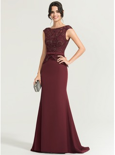 simple evening dress from lace