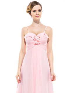 Empire Sweetheart Floor-Length Chiffon Bridesmaid Dress With Cascading Ruffles