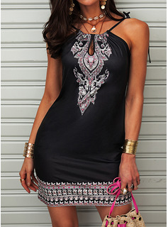 square neckline little black dress