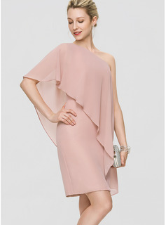 Chiffon Cocktail Dress With Cascading Ruffles