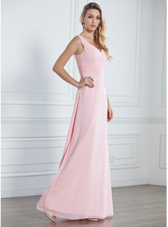 chiffon and satin bridesmaid dresses