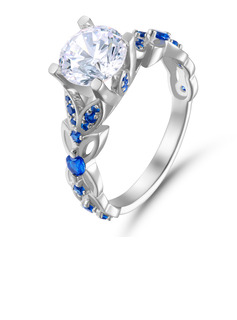 Butterfly Vintage Round Cut 925 Silver Engagement Rings