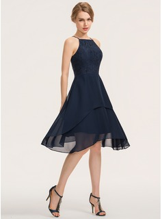 simple navy formal dress