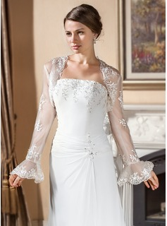 Long Sleeve Lace Wedding Wrap 013024560 Wraps Jj S House