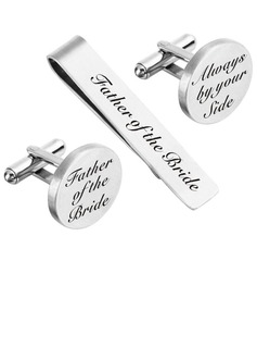 Groom Gifts - Personalized Modern Alloy Cufflinks Tie Clip