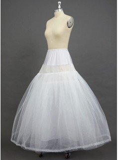 Women Tulle Netting/Spandex Floor-length 2 Tiers Petticoats