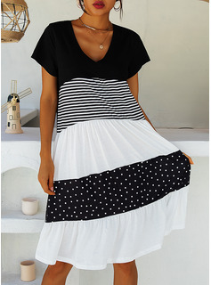 strapless knee length beach dress