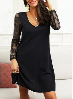 tea length black sequin dress