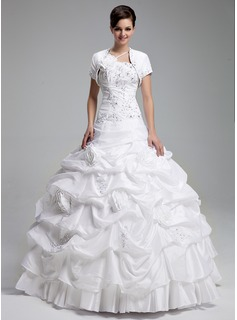 Short Sleeve Taffeta Wedding Wrap