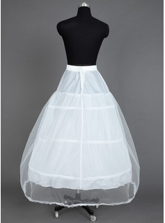 Women Nylon/Tulle Netting Tea-length 1 Tiers Petticoats