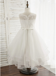 ivory tea length wedding dress