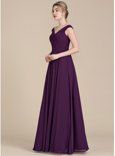 burgundy chiffon bridesmaid dress