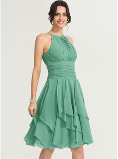 chiffon tiered dress with jacket