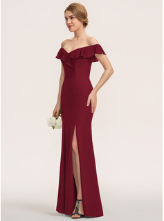 red short flowy bridesmaid dresses