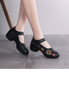 Women's Real Leather Pumps Sneakers Modern Jazz Sneakers Character Shoes Dance Shoes