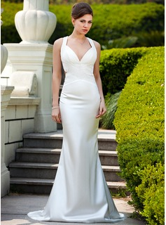 all white formal dresses