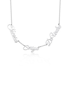 [Free Shipping]Custom Silver Letter Three Name Necklace - Birthday Gifts