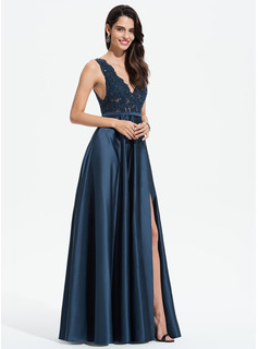 strapless beaded mermaid prom dress