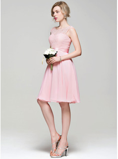 short ivory chiffon bridesmaid dresses