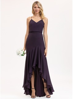 satin evening dress with slit