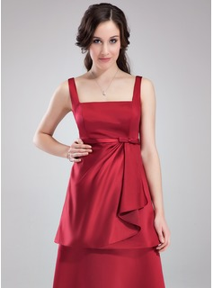 cheap short brown bridesmaid dress