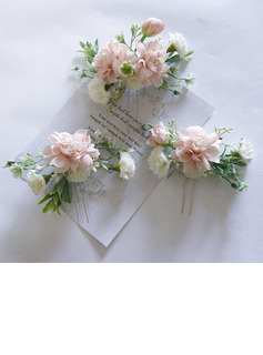 Beautiful Silk Flower Tiaras (Set of 3)