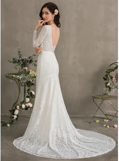 long sleeve country wedding dresses