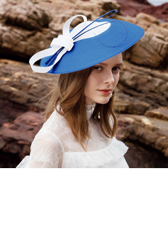 Ladies' Beautiful Polyester With Feather Floppy Hats/Tea Party Hats