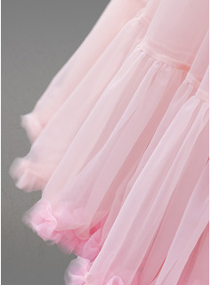 Femmes Tissu tulle Longueur genou 2 couches Jupons