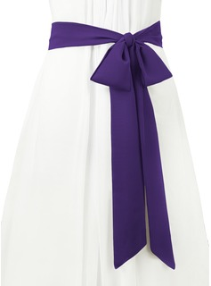 grey bridesmaid dresses sash