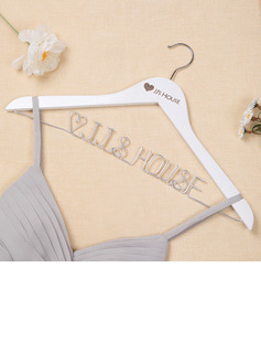 JJ's House Wooden Engraved Silver Wire Hanger