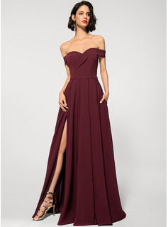 blue velvet long prom dress
