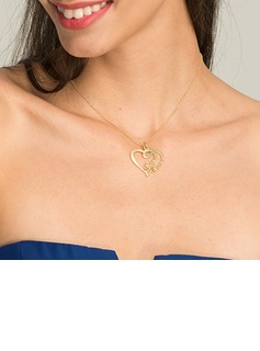 Custom 18k Gold Plated Heart Name Necklace - Birthday Gifts Mother's Day Gifts