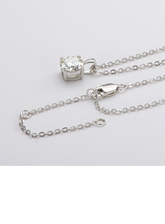 Ladies' Classic 925 silver and chain Moissanite Initial Necklaces Necklaces