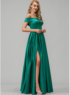 satin evening maxi dress