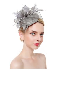 Ladies' Classic/Simple Net Yarn With Feather Fascinators
