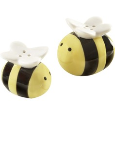 """Sweet As Can Bee"" Ceramic Salt & Pepper Shakers (Set of 2)"