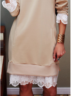 Lace Long Sleeves Casual Dresses