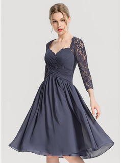 Sweetheart Knee-Length Chiffon Cocktail Dress