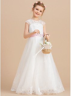 purple tulle flower girl dress