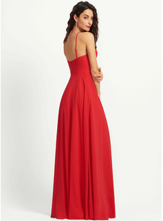 A-Line Scoop Neck Floor-Length Bridesmaid Dress