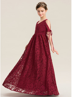 lace pleated chiffon maxi dress
