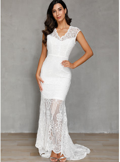Polyester With Lace/Solid Maxi Dress