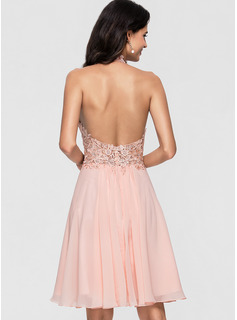 blush pink formal dress short