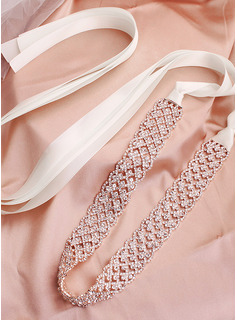 Gorgeous/Exquisite Satin Sash With Rhinestones