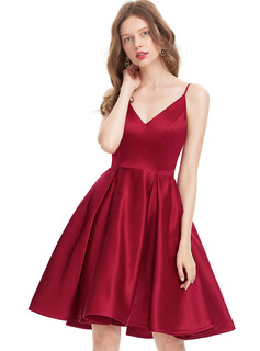 red prom dresses 2020 short